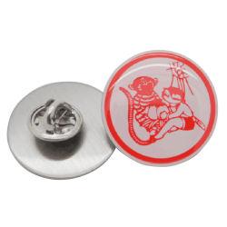 L'impression offset personnalisé métal Logo Cartoon Animal d'un insigne d'articles de promotion de l'emblème de la mascotte de la Mode avec Papillon (d'embrayage BG72)