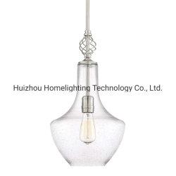 Jlc-8031 Ronda contemporânea de estilo de vaso de altura ajustável da lâmpada pendente de luz com vidro sem sombra