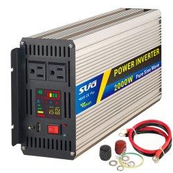 2000W/2Квт 12/24/48V к 110V/220V Чистая синусоида инвертор, солнечной выключения питания инвертора впускного воздуха