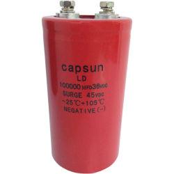 Commerce de gros condensateurs, Basse, Moyenne et haute tension des condensateurs de stockage de l'énergie d'impulsion, 100 000 UF36V condensateurs électrolytiques aluminium