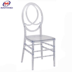 도매 결혼식 훈장 공급은 합성 수지 피닉스 수정같은 의자를 지운다