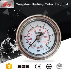 Tutto il manometro di pressione del fluido del gasolio dell'acciaio inossidabile, calibro di pressione idraulica, manometro Analog del tubo di bordone