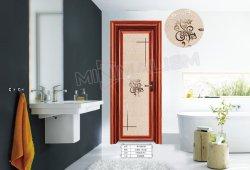 Matériaux de construction en bois profilé en aluminium de couleur Swing/porte des toilettes