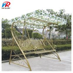 Im Freien Qualitäts-Garten-Schwingen-Metallrahmen-Patio-bearbeitetes Eisen-Patio-Schwingen 2 Seater hängendes Schwingen-Stuhl-Kabinendach