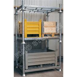 Memoria pieghevole personalizzata galvanizzata del magazzino che impila il pallet d'acciaio del metallo