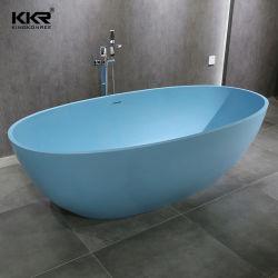 Luxe badkamer vrijstaande Faux kunstwit marmer steen Acryl hars Stevige oppervlakte bad