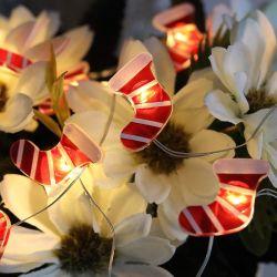 Kerst Stocking Micro Mini LED koperen draad Fairy met batterijvoeding Strijklichten voor kersthuis decoratie