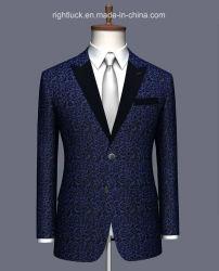 Fabricant OEM et de gros de tissu de laine JACQUARD Tissu Tr MEN'S Tuxedo veste et pantalon costumes