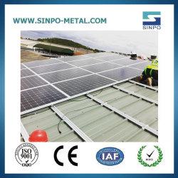Système de montage de l'énergie solaire en aluminium panneau PV Support pour l'étain/toit de métal Structure d'énergie solaire