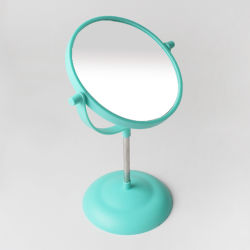 Duas faces Magmifying Makeup Desktop Espelho de plástico