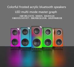 De kleurrijke Berijpte AcrylLuidspreker van de Input van de Kaart van het Geheugen van Sprekers Bluetooth Audio