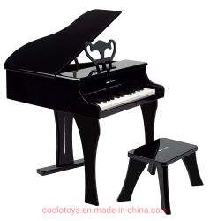 Heureux de jouer du piano noir Les jouets en bois pour les enfants
