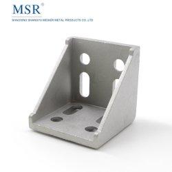 6060A-8 Steun van de Hoek van de Delen van het metaal de Auto voor het Profiel van de Uitdrijving van het Aluminium