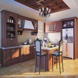 شقة خشب رقائقي Carcass Modular Kitchen Cabinet تصميم غشاء PVC الحديث خزائن ألواح خشبية MDF