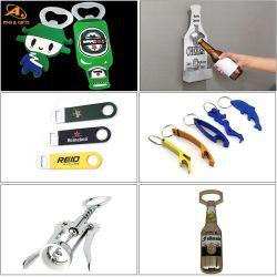 Groothandel Promotie Cadeauset Custom Beer Bar Wine Corkscrew accessoire Metalen wandmontageset Hout roestvrij staal sleutelhanger Guinness CAN Ring Jar blank flesopener