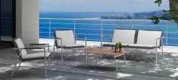 Châssis en aluminium corde tissé un canapé-ensemble de la corde de loisirs pour les meubles de jardin