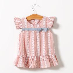 ملابس الأطفال طفلة صيف 100% قطن تحلق جراب الحب ثوب طباعة ، التجزئة بالجملة