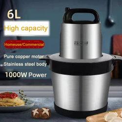 QH Mini 6L 다기능 가정용 전동 고기 그라인더 스테인리스 스틸 블레이드 고기 믹서 기계