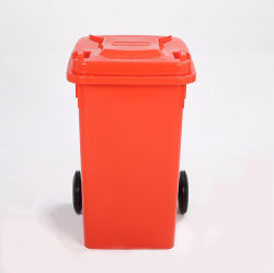재활용 병, 유리 캔, 금속 폐기물, 종이를 위한 잠금 및 고무 스토퍼가 있는 100L 플라스틱 휠 빈