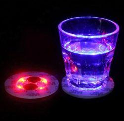 Bar KTV utiliza LED brilla la luz roja posavasos pegatina