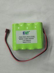 9,6 V da bateria do dispositivo médico 2000mAh Ni-MH AA recarregável