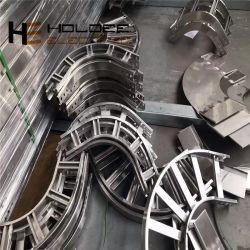 HDG Chemin de câble perforé l'échelle de l'agrégation de courbure horizontal de 90 degrés Gi Tee SS316L bras transversal en alliage aluminium réducteur de montage de renforcer la tige filetée du support mural
