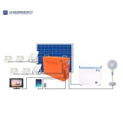 Het draagbare ZonneSysteem van het Huis van het Systeem van de ZonneMacht van de Koolstof van het Systeem van de Opslag Blauwe 1kwh met 500W Omschakelaar