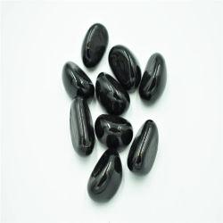 Gelee-Bohnen-Glaskiesel-schwarze Glasedelsteine