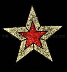 Decorazione natalizia commerciale 3D illuminazione Star Light
