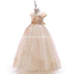 Western Neueste Babykleidung Mädchen Party Kleid Ball Kleid Prinzessin Süßes Langes Kleid Mit Geck- Und Spitze