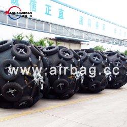 Guarda-lamas pneumáticos Yokohama de borracha de 4.5 M de maior diâmetro do mundo, tipo insuflável flutuante marítima para transferências e cais de barges, cais do porto