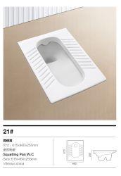 Reeks van de Hurkzit van de badkamers de Ceramische met Trapway (Geen 21#S)