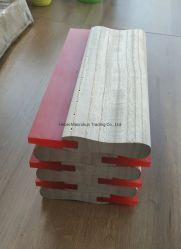 Las ventas de fábrica de mango de madera mangos de aluminio Serigrafía rasqueta de goma para la impresión de PU