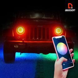 Автомобильная светодиодная подсветка индикатора дальнего света фар автомобиля& ближнего света APP управления с одновременным Lightmotorcycle светодиодный индикатор автоматического преобразования фар Детали светодиодный светильник