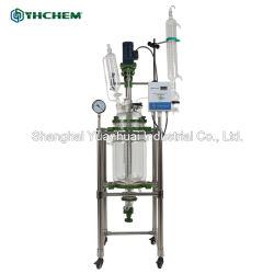 10L Protección de la explosión del reactor de doble cristal personalizado vasos de reacción química