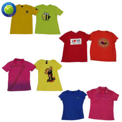 사용된 옷 숙녀 t-셔츠 면 의류