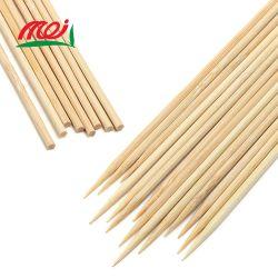 Ronda de bambú chino barbacoa parrilla Candy Apple Stick