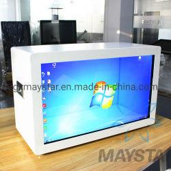 """15 """" ~100 """" lichtdurchlässiger transparenter Glas LCD-Screen-Computer-Digitalanzeigen-Bildschirm-Schaukasten für Verkauf"""