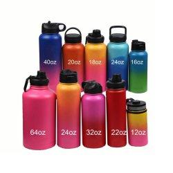 350 мл/12oz широкий рот бутылка воды из нержавеющей стали с логотип