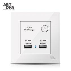 スイッチを持つ1A &2.1A USBの充電器