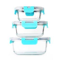 Borosil 진공 누설방지 각종 크기 저장 유리제 자물쇠 음식 콘테이너