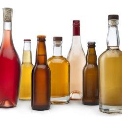 750 ml de liqueur de l'autocollant rond plat blanc esprit clair Xo personnalisé de la Vodka bouteille en verre de Whisky Rhum