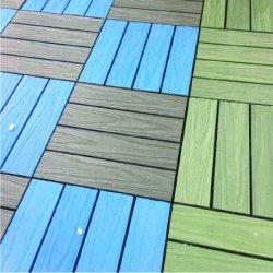 Compuesto de madera mosaico del pavimento Fácil de instalar los azulejos de bloqueo fuera DIY en el suelo