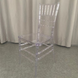 Comercio al por mayor transparencia de la boda de eventos y presidente de cristal acrílico resina transparente de apilamiento de hielo silla Chiavari