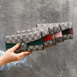 Raccoglitore triplo della frizione delle donne di modo di marca della Multi-Scheda di lusso della signora Wallet Designer Replica Long