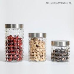 Ménage bulle de verre sans plomb écologique Square de bouteilles, flacons en verre Moisture-Proof nourriture, des réservoirs de stockage