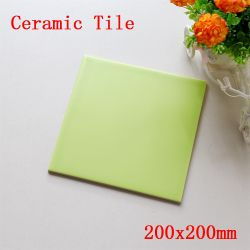 Baratos clásico 200x200mm de pequeño tamaño, color verde mate 8''x8'' pulgadas Metro Cocina y baño de cerámica azulejos de pared