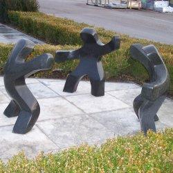 Creative Hand-Carved estatuas estatua de mármol negro para jardín y hogar Deco
