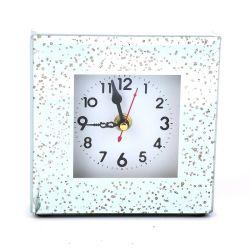 Orologio da parete quadrato in vetro con specchio Argento Classico regalo promozionale