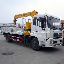 Dongfeng 6,3 tonne monté sur camion grue Grue de la rampe de camion cargo camion avec grue pour la vente